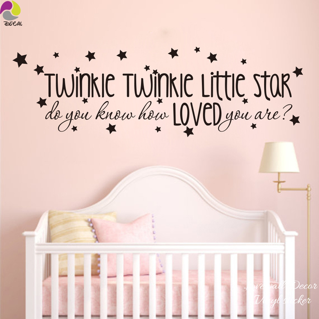 Le Little Star Song Lyrics Wall Sticker Baby Nursery Kids Room Do You Know How