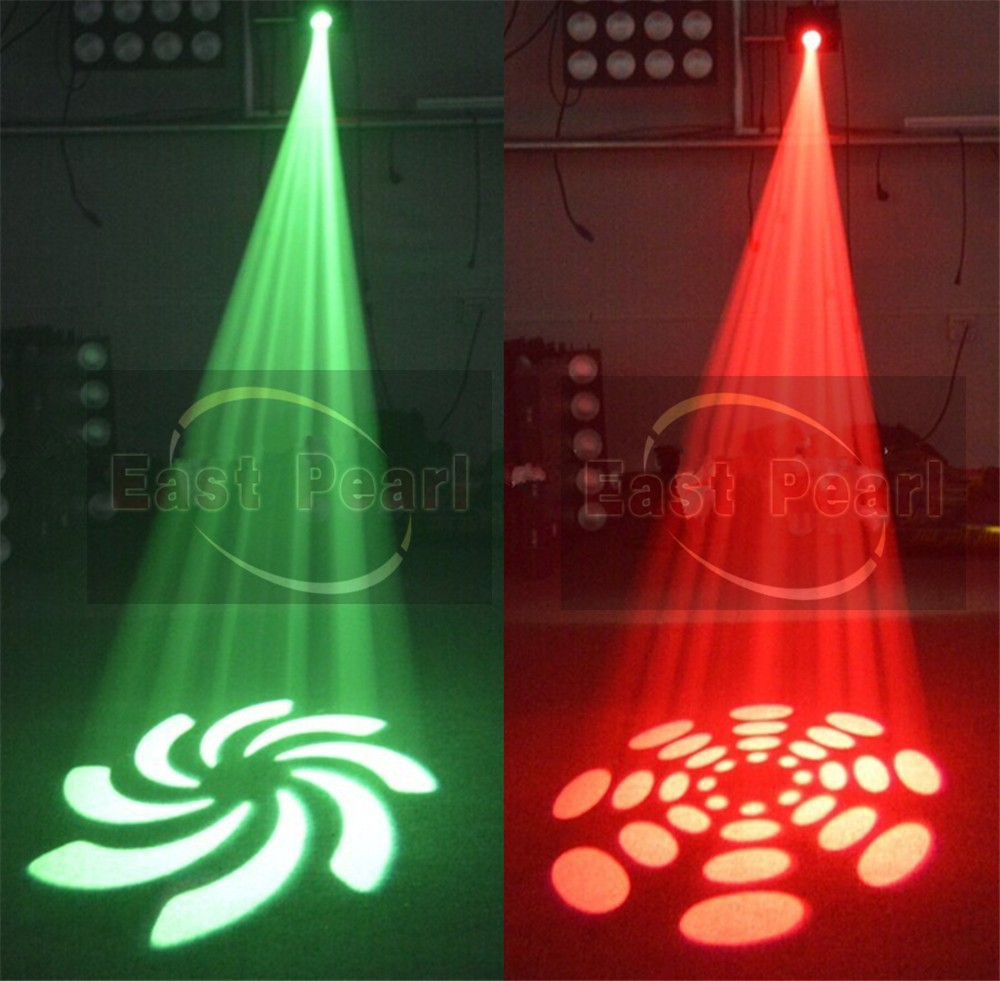 6pcs Lot 30w White Led Mini Moving Head Spot Gobo Light Color Gobo