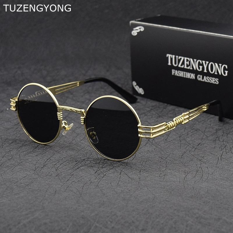 Gótico Steampunk hombres gafas de sol polarizadas Vintage Classic ronda de conducción gafas de sol accesorios de gafas para hombres/mujeres