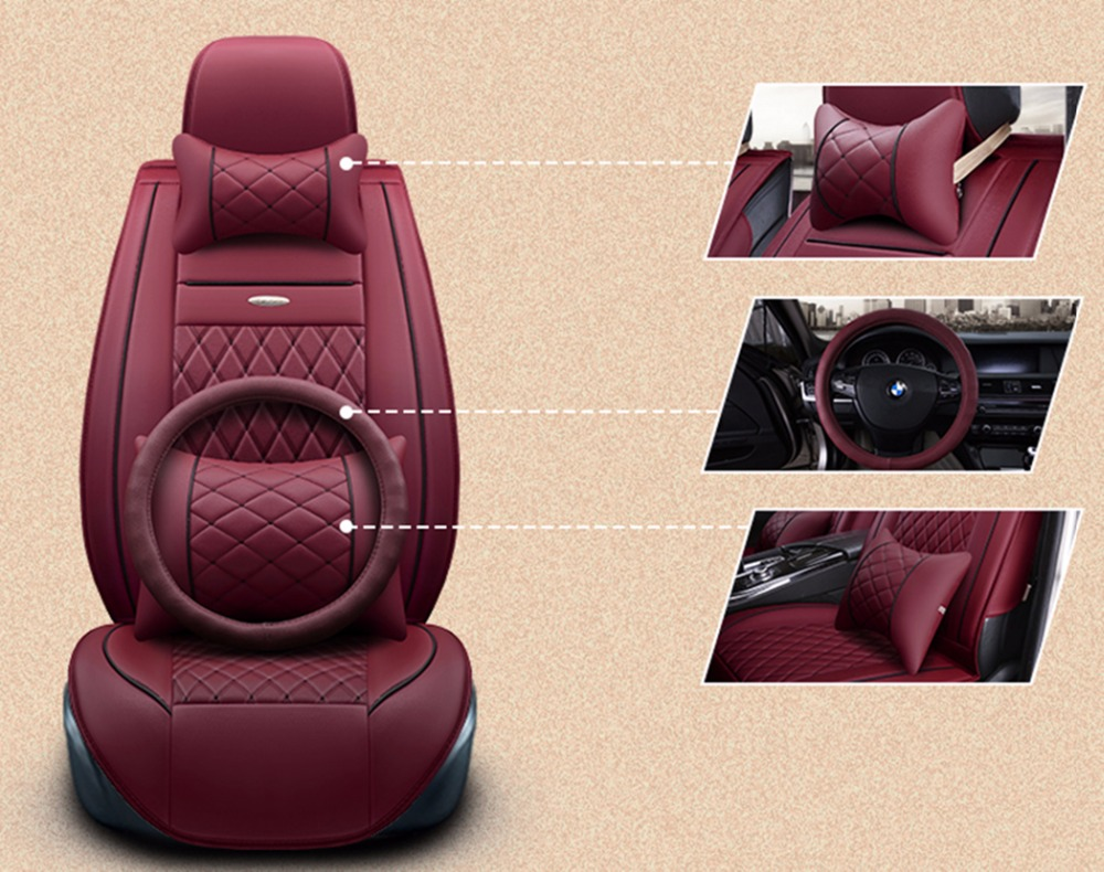 (Front+Rear)Special Leather car seat covers For Benz A B C D E S series Vito Viano Sprinter Maybach CLA CLK GLC car accessories