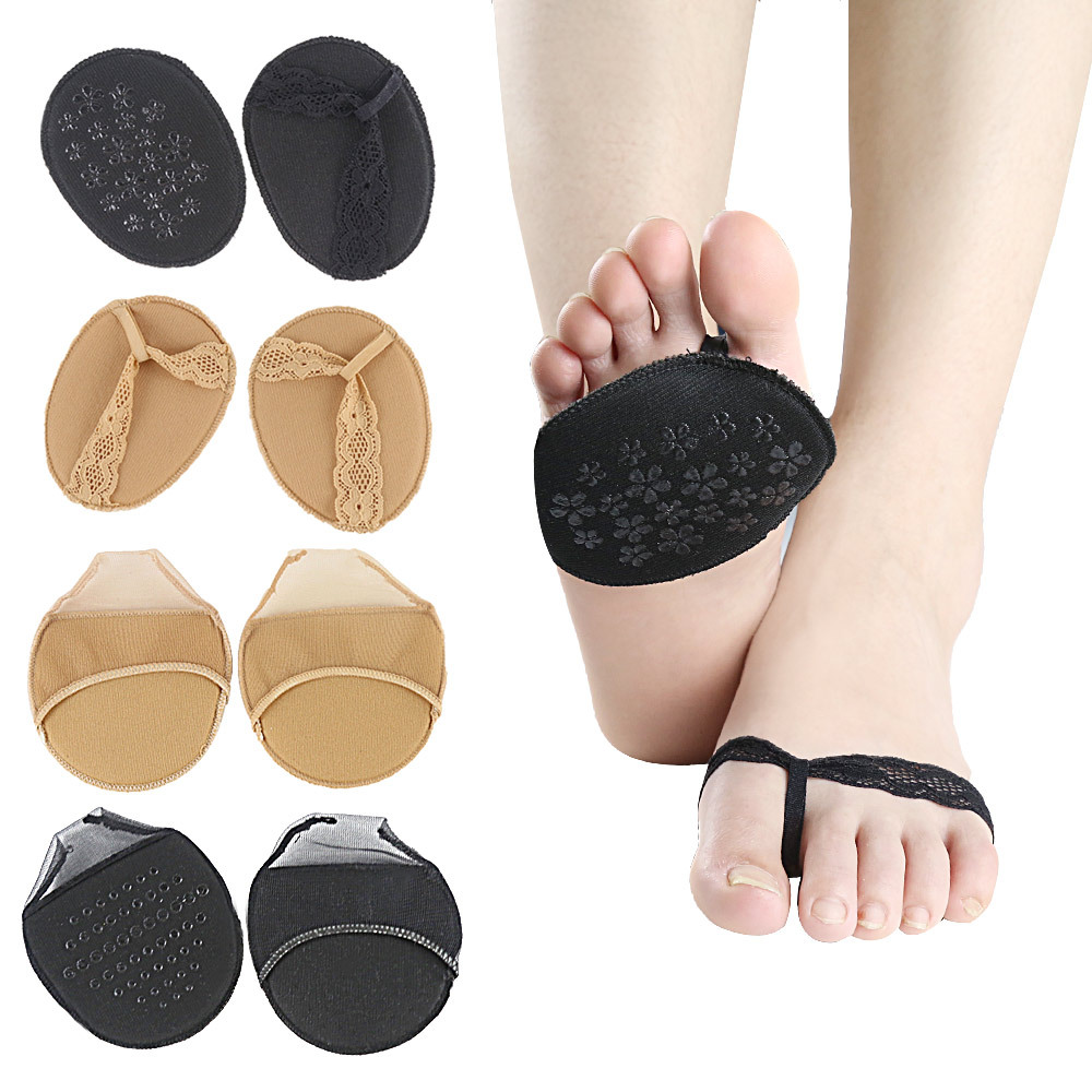 1Pair Fashion Women Girl Lace Forefoot Insoles Invisible Breathable  High Heels  Slipper Anti-slip Half Yard Pad Insert1Pair Fashion Women Girl Lace Forefoot Insoles Invisible Breathable  High Heels  Slipper Anti-slip Half Yard Pad Insert