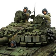1/35 Resin Figure Russian Tank Crew 1 Set Model Kits