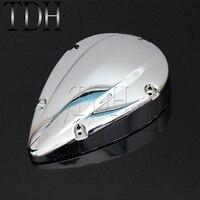 Chrome Motorcycle Carburetor Air Cleaner Filter Cover Cap Case For Honda Shadow ACE VT VT400 VT750 2004 2012