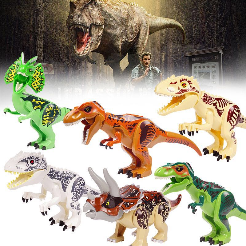 Jurassic Dinosaur world Figures Tyrannosaurs Rex Building Blocks Compatible With Legos Dinosaur Toys fopcc 2pcs sets 79151 jurassic dinosaur world figures tyrannosaurs rex building blocks compatible with dinosaur toys legoings