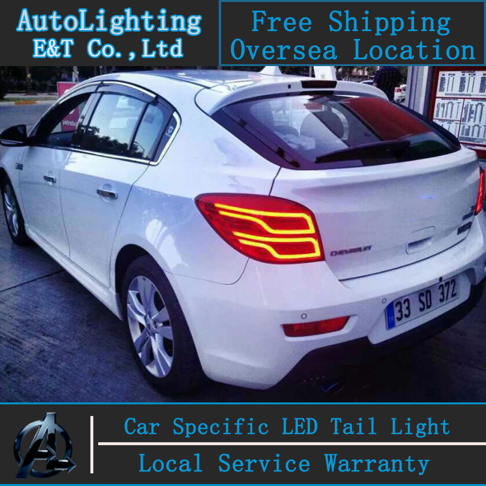 Auto Lighting Style LED Tail Lamp for Chevrolet Cruze led tail lights Hatch Back rear trunk lamp cover drl+signal+brake+reverse