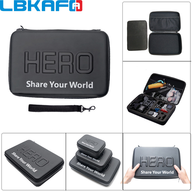 LBKAFA For Gopro Shockproof Waterproof Case Box For SJCAM SJ5000 SJ4000 SJ6 SJ7 Go Pro Hero 6 5 <font><b>4</b></font> <font><b>3</b></font>+ Camera Bag (<font><b>23</b></font> <font><b>x</b></font> <font><b>17</b></font> <font><b>x</b></font> 7 cm)
