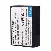1pcs 7.4V 2200mah LP-E10 LP E10 LPE10 Digital Camera Battery For Canon 1100D 1200D 1300D Rebel T3 T5 KISS X50 X70 Batteries