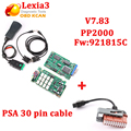 V7.83 diagbox Lexia3 Диагностический инструмент Lexia PP2000 с 921815c прошивки 3 V48 PP2000 V25 Для Citroen для Peugeot + PSA 30 кабель
