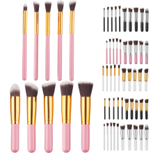 Professional 10pcs/set face brush Pro Cosmetic Makeup Tool Brush Set Eyeshadow Blush Brushes Kabuki Make Up Tools Kits
