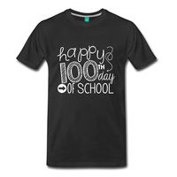 Teachers Happy 100th Day Of School Men's T-Shirt New Arrival Male Tees Casual Boy T Shirt Tops Discounts Cool O-Neck Tops