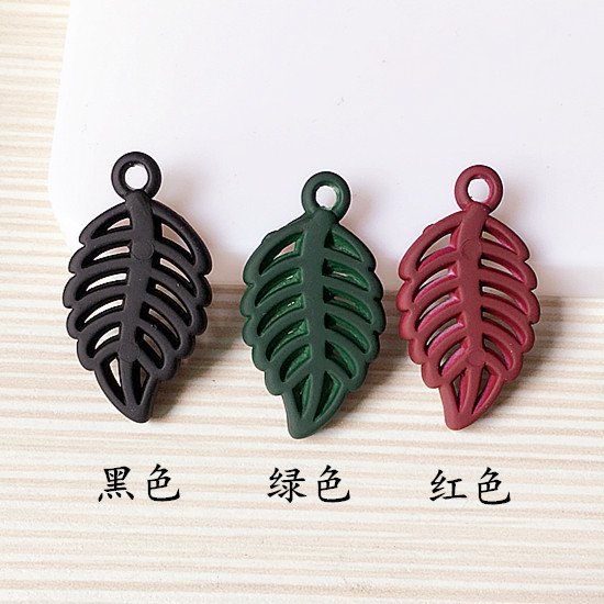 New Arrival Hollow Out Style Leaf Metal Charms Enamel Alloy DIY Jewelry FIndings Floating Necklace Bracelet Necklace Charm Craft