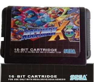 Rockman X3  - 16 bit MD Games Cartridge For MegaDrive Genesis console