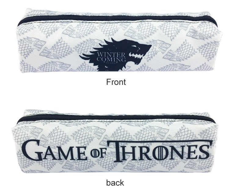 4cea8df8ec3 Fashion Anime Game of Thrones Wallet Student Large Capacity Zipper Pencil  Pen Bag Purse Stationery Holder