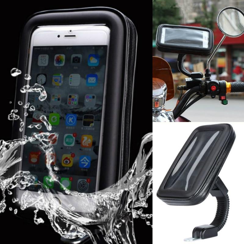 imágenes para Motocicleta Soporte Para Teléfono Espejo Retrovisor Montaje Bolso Impermeable Del Caso Para Sony Xperia Z3 Z4 Z5 Z5 M5 Prima XZ XA E5