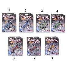 10.5cm*7cm Mini Finger BMX Bicycle Flick Trix Finger Bikes Toys BMX Bicycle Model Bike Tech Deck Gadgets Novelty Gag Toys
