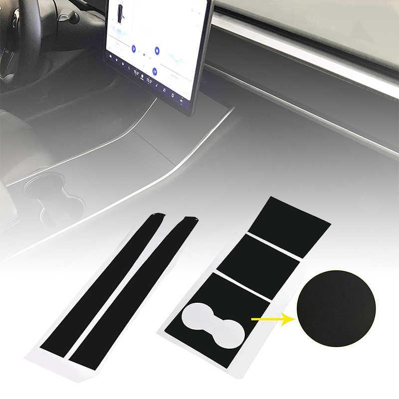 Матовый, чёрный винил автомобиля DIY оберточная бумага автомобиля стикер декор для Tesla модель 3