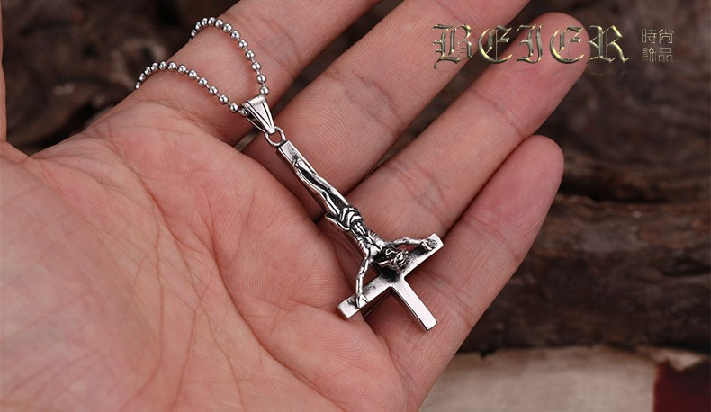 Inverted cross of st peter 316l stainless steel titanium steel inverted cross of st peter 316l stainless steel titanium steel pendant necklace fashion vintage gothic punk jewelry in pendant necklaces from jewelry aloadofball Images