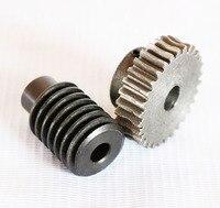 1.25M 50Teeths gear hole:10mm rod hole:8mm 45# steel worm gear wheel speed reducer