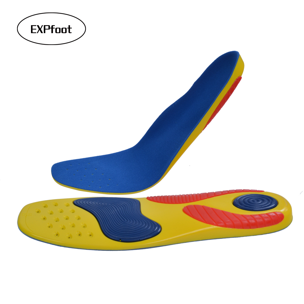 Premium Athletes Sport Insoles Gel Heel Forefoot Absorbs Shock Arch Support Extreme Comfort Silpure Antimicrobial Reduces Odor