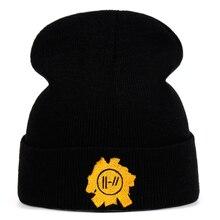 Рок-Группа Twenty One Pilots шапочка с вышивкой, аксессуары для костюмированной вечеринки, вязаная шапка, аксессуары для костюма, подарки, теплая зима