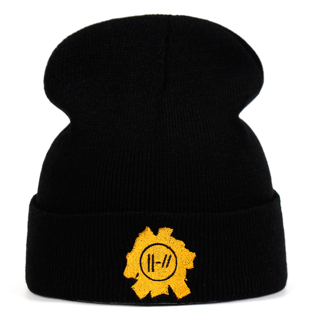 76a7ac3281c Rock band Twenty One Pilots Beanie Cap embroidery Cosplay Costume  Accessories Knitted Hat Costume Accessory Gifts Warm Winter