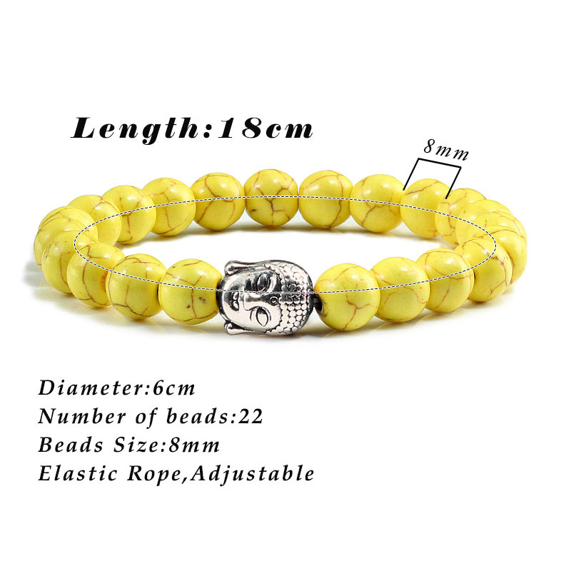 Classic Sliver Plated Buddha Beads Bracelets&Bangles Charm Men Black Natural Volcanic Stone Strand Bracelet Women Prayer Jewelry 5