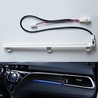 Car Atmosphere Lamp Central Control Decorative Lights LED Light Blue Car Accessories For Toyota Camry 2018