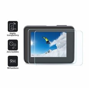 Image 5 - VSKEY 100PCS מזג זכוכית עבור GoPro גיבור 7 6 5 מצלמה LCD מסך מגן + עדשת כובע מגן סרט עבור גיבור 5/6/7
