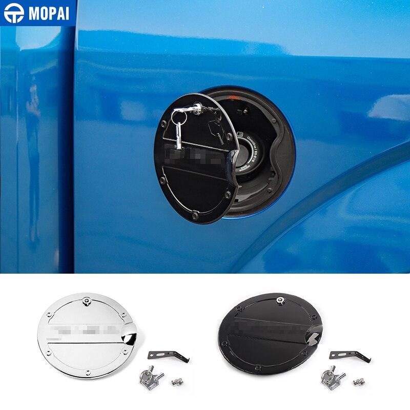 MOPAI ABS voiture extérieur huile de gaz bouchon de réservoir de carburant garniture avec serrure à clé décoration pour Ford F150 2015 Up accessoires de voiture style