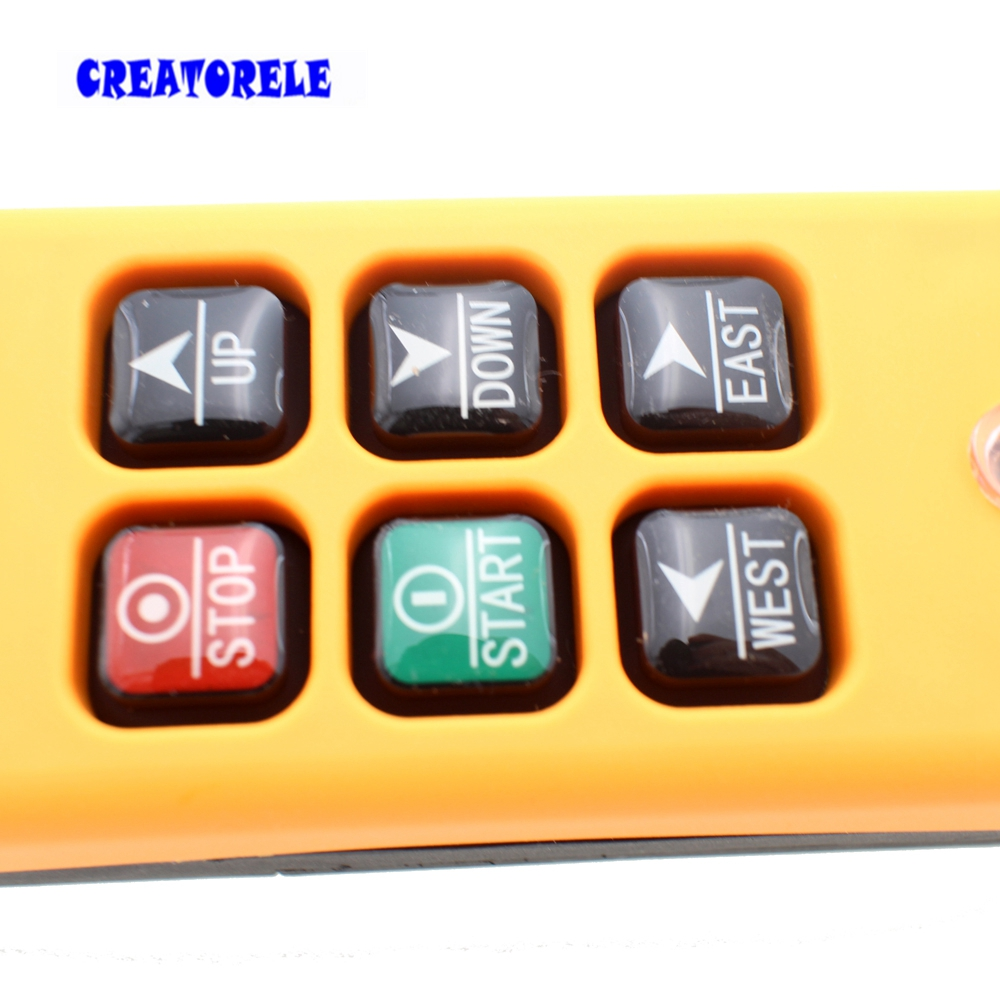 Image 3 - New Arrivals crane industrial remote control HS 6 wireless transmitter push button switch China-in Switches from Lights & Lighting