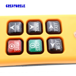 Image 3 - New Arrivals crane industrial remote control HS 6 wireless transmitter push button switch China