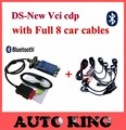 2017 ds cdp+ tcs cdp plus +Full 8pcs car cables 2015.1 software for cars trucks diagnostic tool obd obd2 bluetooth Free shipping