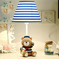 Captain Bear 110V-220V Children Room Wood Desk Lamp Led Desk Lamp E14 Led Desk Light Car Model Switch Button Bedside Lamp
