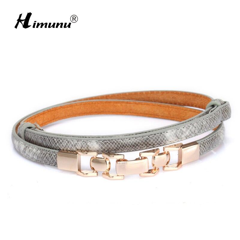 [HIMUNU] חדש סגנון מתפתל חגורות לנשים אופנה שרשרת נשים חגורת עור דק חגורה עם שמלת מעצב מותג אבנטי