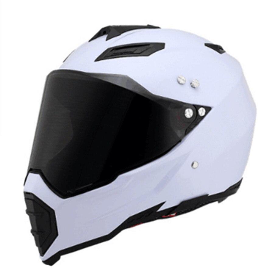 Top chaude casque Intégral moto casque casque motocross TAILLE: S M L XL XXL, capacete blanc couleur full face casco avec foncé objectif