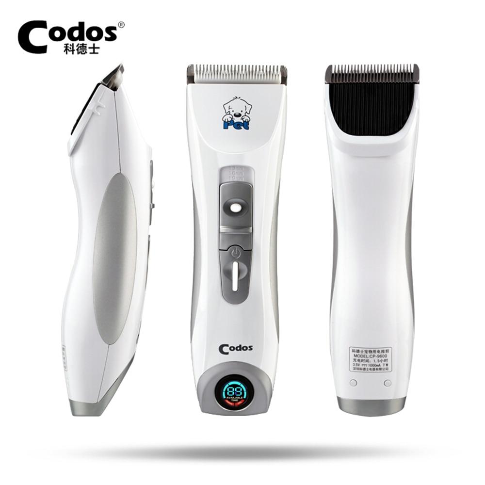 Codos CP9600 professionale Dog Pet Hair Trimmer Ricaricabile Display LCD Pet Rasoio Elettrico Dog Clipper Grooming Haircut Macchina