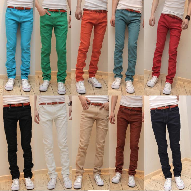 Envio Gratis Nuevos Pantalones Vaqueros Ajustados De Color Caramelo Para Hombre Pantalones Elasticos Ajustados Para Hombre 10 Color Men Jeans Pants Jeans Pantsfashion Men Jeans Aliexpress