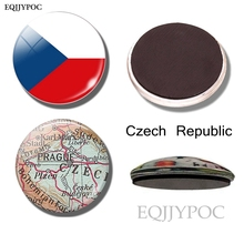 Czech flag map fridge magnet Prague map travel souvenir 30MM refrigerator magnets countries cities Czech Republic sticker aneta rupniewska czech republic slovakia road map isbn 978 83 7546 109 1