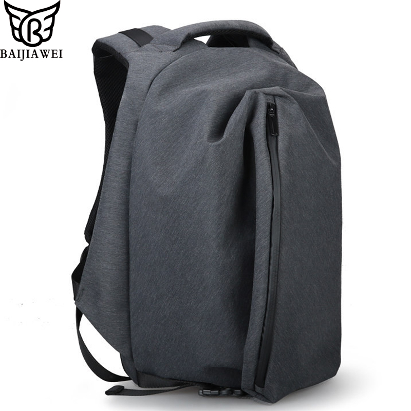 BAIJIAWEI New Anti-theft Backpack Men Women Travel Bag 15.6 inch Laptop Backpacks Waterproof Casual Business Backpack mochilas 14 15 15 6 inch flax linen laptop notebook backpack bags case school backpack for travel shopping climbing men women