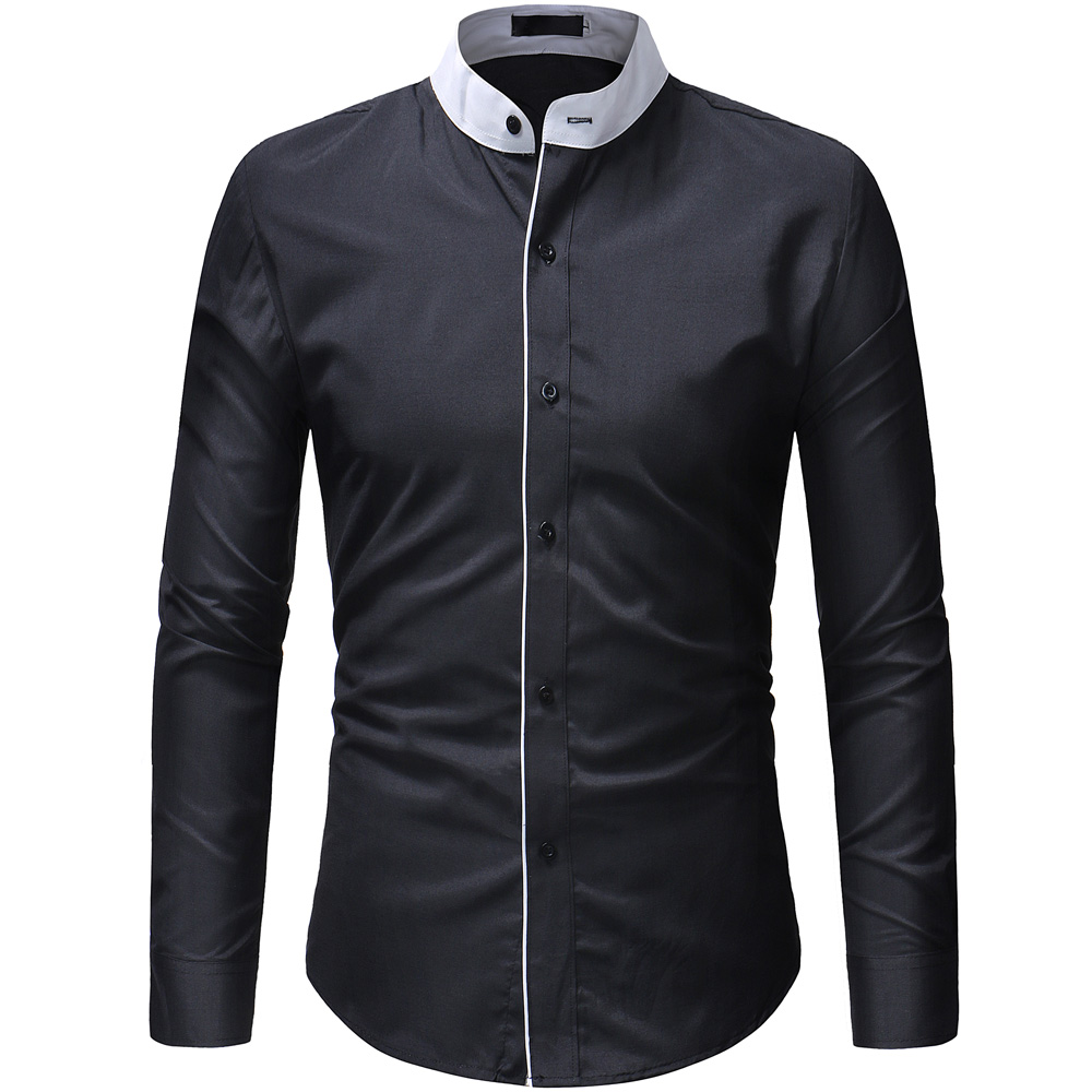2018 herbst Neue Heißer verkauf männer Shirts Mode Marke Slim fit einfarbig Hemd Männlichen Langen Ärmeln Casual Shirt camisa Masculina