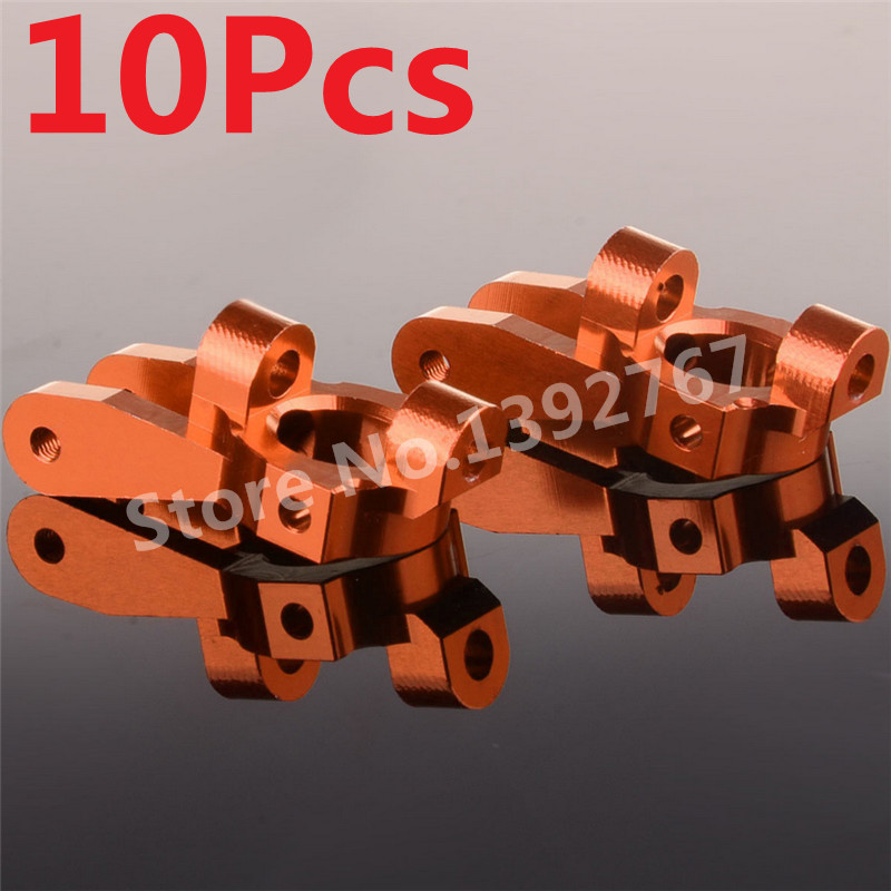 10Pcs RC Car Aluminum Front Hub Carrier(L/R) K949-002 For 1/10th Scale Models Remote Control Cars WLtoys K949 CLIMBING Crawler
