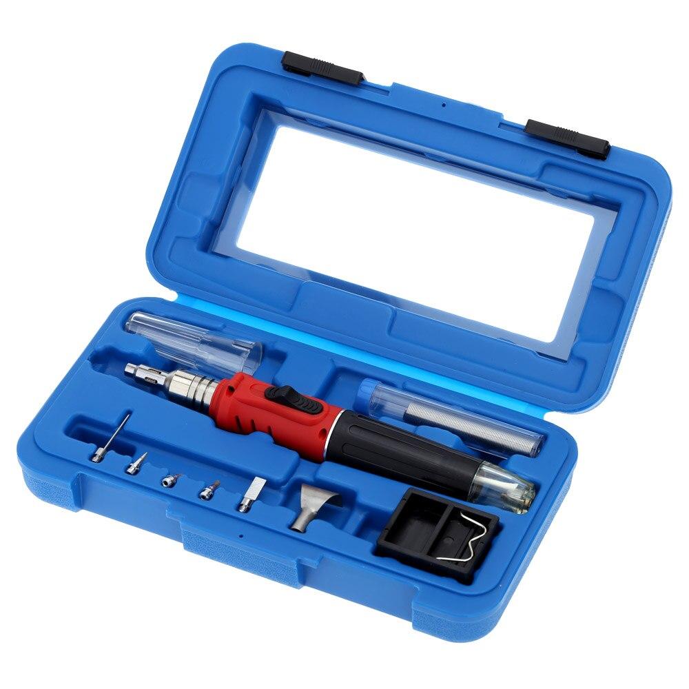 HS 1115K Professional 10 in 1 Soldering Iron Set Butane Gas Soldering Iron 26ml solder tools Welding Kit Torch Welding Equipment