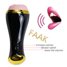 FAAK Sex Toys for Men Sweet interaction Male Masturbator Artificial Vagina Real Pussy Silicone,Sucking Vibrator Pocket Pussy