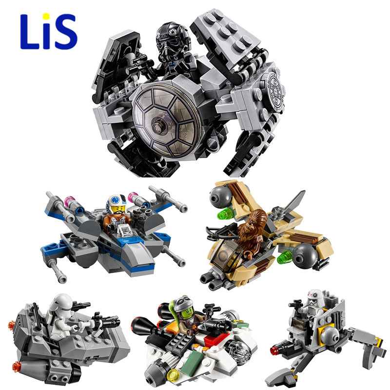 Star Space Wars Microfighters Loging Building Blocks Sets Clone Micro Fighter Bricks Toys Compatible Starwars 2018 NEW