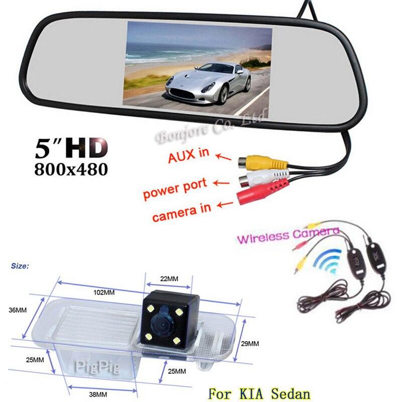 Vidéo de stationnement sans fil. Émetteur sans fil récepteur voiture vue arrière caméra pour KIA Rio K2 berline avec 5