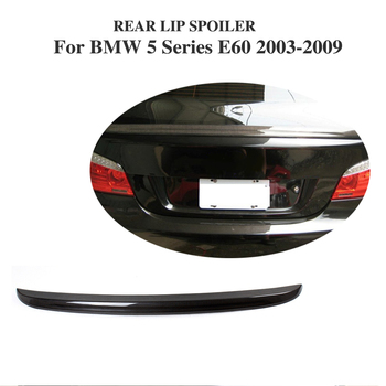 Carbon Fiber Trunk Boot Lip Spoiler Wing Sticker For BMW 5 Series E60 2003-2009 Car Accessories image