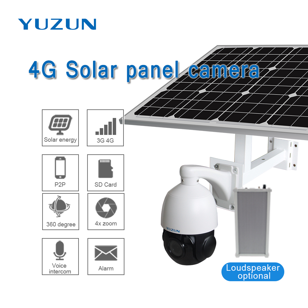 3g 4g solar powered ip font b camera b font with sim card 360 degree outdoor