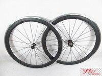 Strong 1620g Set Carbon Clincher Alloy Wheels For Road Bike 50mm 20 5mm 20 24 3K