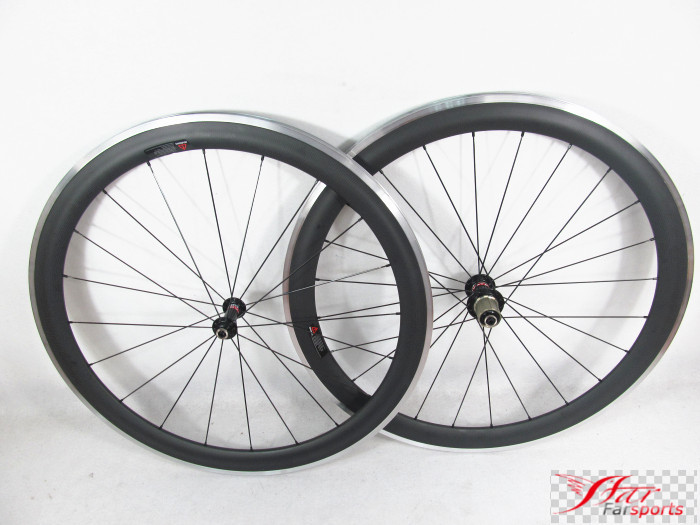 Farsports FSC50-CA-23 Novatec hub Bicycle clincher alloy carbon wheelset for road bike, 50mm carbon wheels with aluminum braking fashion inspirational letters pattern wall sticker for livingroom bedroom decoration