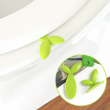 Green Leaves Toilet Lid Lifting Device Sitting Commode Bathroom Accessories Toilet Handle Portable Sanitation